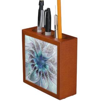 Blühen Sie abstrakte moderne Fraktal-Blume mit Stifthalter