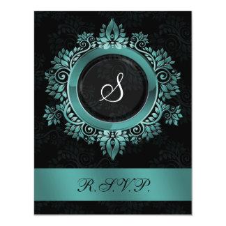 blühen Sie elegantes UAWG Hochzeit des Personalisierte Einladung