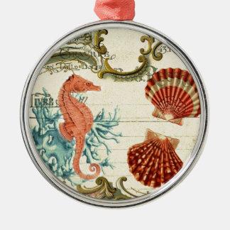 blühen Sie französisches modernes Vintages Silbernes Ornament