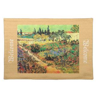 Blühender Garten mit Weg, Vincent van Gogh Tischset