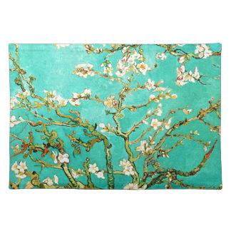 Blühender Mandelbaum Vincent van Goghs Stofftischset