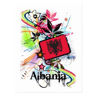 Blume Albanien Postkarte