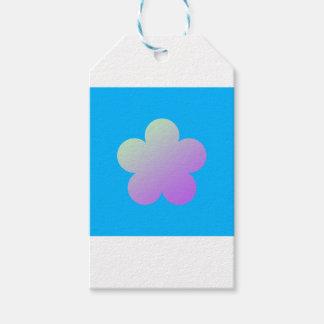 Blume auf einem blauen Hintergrund Geschenkanhänger