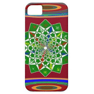 BLUME CHAKRA Rad-Energie: Smaragdgrün iPhone 5 Schutzhüllen