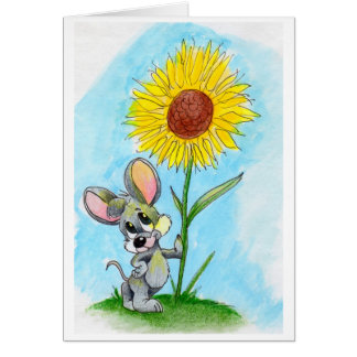 """Blume der Maus """"n"""" Karte"""