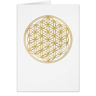 Blume des Goldes des Lebens |, klein Mitteilungskarte