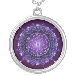 BLUME DES LEBENS/des Blume DES Lebens - Mandala I Halskette Mit Rundem Anhänger