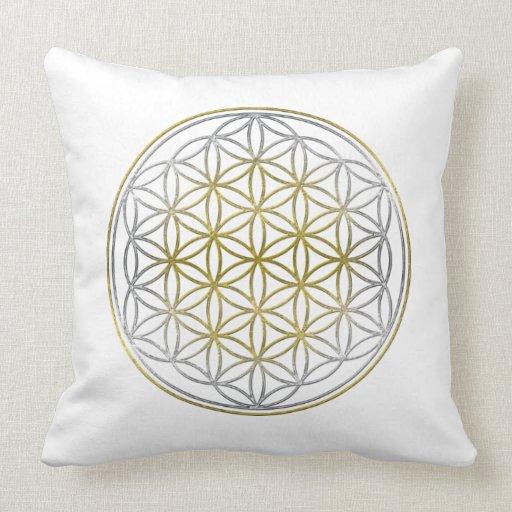 blume des lebens des blume des lebens zweifarbig kissen zazzle. Black Bedroom Furniture Sets. Home Design Ideas