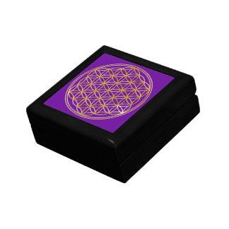 BLUME DES LEBENS - Gold Kleine Quadratische Schatulle