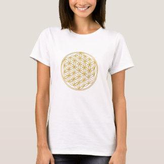 BLUME DES LEBENS - Gold T-Shirt