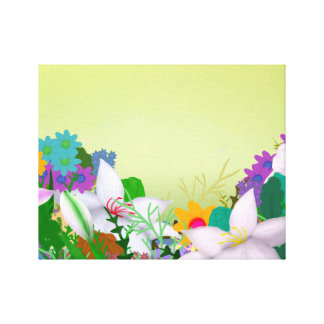 Blume eingewickelte Leinwand-Malerei Leinwand Druck