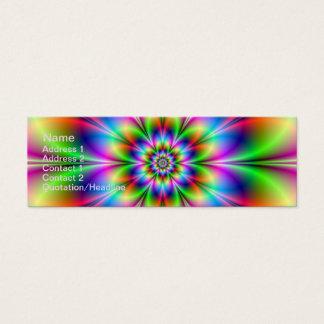 Blume im Neon Mini Visitenkarte