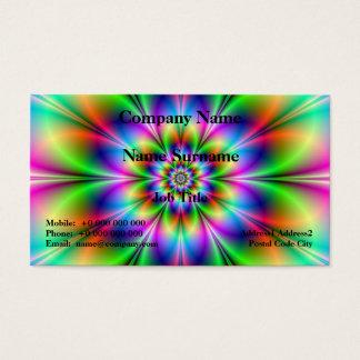 Blume im Neon Visitenkarte