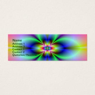 Blume in der Neonkarte Mini Visitenkarte
