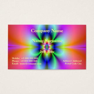 Blume in der Neonkarte Visitenkarte