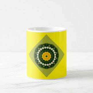 Blume-Mandala, Gänseblümchen Tasse