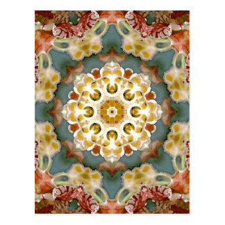 Blume Mandala Postkarte