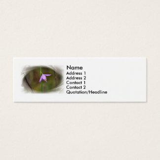 Blume Mini Visitenkarte