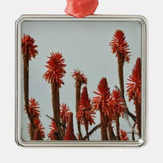 Blume Silbernes Ornament
