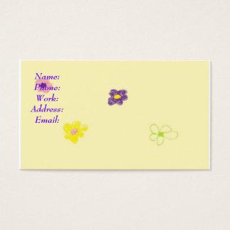 Blume Visitenkarten