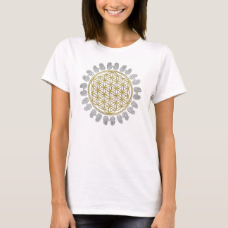 Blume von Leben-/Blume-DES Lebens - Geist-Hände T-Shirt