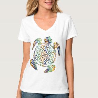 Blume von Leben-/Blume-DES Lebens - Schildkröte Hemden