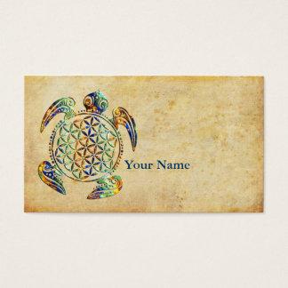 Blume von Leben-/Blume-DES Lebens - Schildkröte Visitenkarten