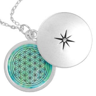 Blume von Leben Monoprint Halskette