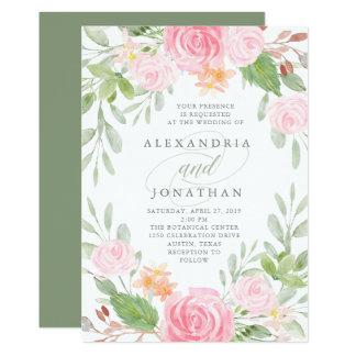 Blumen| Aquarell-Hochzeit des Frühlings- Karte
