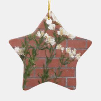 Blumen auf Ziegelstein Keramik Ornament