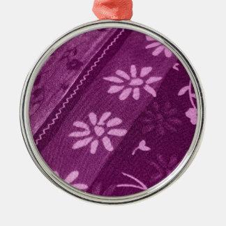 Blumen-Blüten-Rebe-lila rosa Duschen-Party Rundes Silberfarbenes Ornament