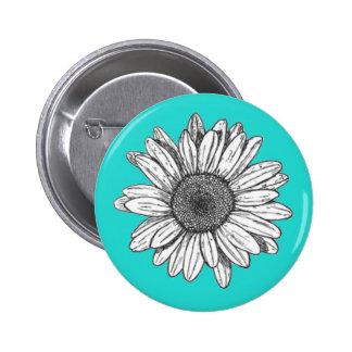 Blumen-Button-Rückseiten-Knopf Runder Button 5,7 Cm