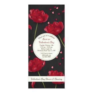 Blumen der Liebe-Einladung 10,2 X 23,5 Cm Einladungskarte
