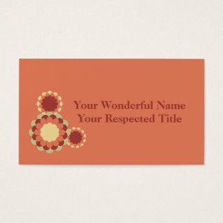 Blumen-Entwurf Visitenkarten