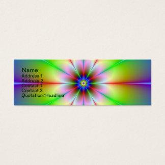 Blumen-Fraktal Mini Visitenkarte
