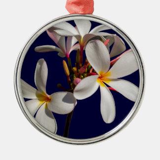 Blumen-Friedenssegen-Liebe-Park-Rebe-Schicksal Rundes Silberfarbenes Ornament