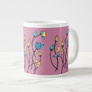 Blumen-Gekritzel Jumbo-Tassen