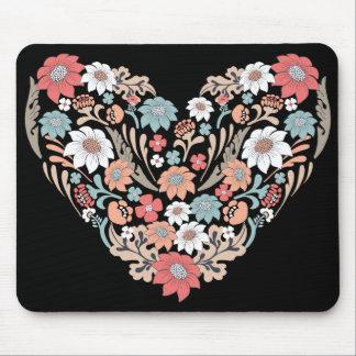 Blumen-Herz Mousepads