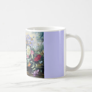 Blumen in einem Vase Kaffeetasse