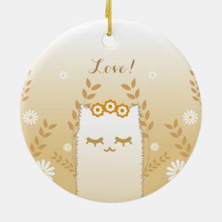 Blumen-Katzenverzierung Keramik Ornament
