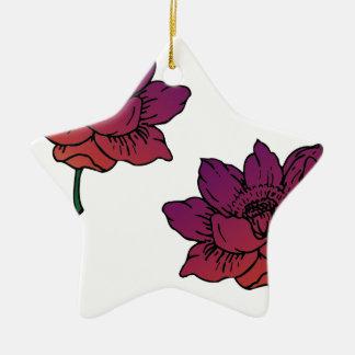 Blumen Keramik Ornament