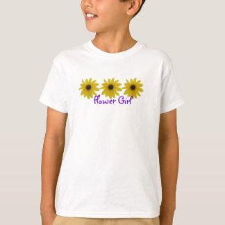 Blumen-Mädchen-Sonnenblumen T-Shirt