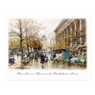 Blumen-Markt bei der Madeleine, Paris Postkarten