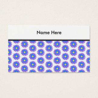 Blumen-Muster Visitenkarte