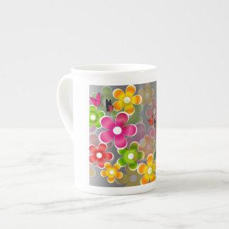 Blumen Porzellan-Tasse