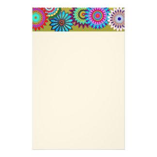 Blumen-Power-Briefpapier Briefpapier