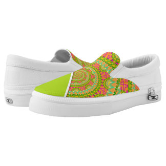 Blumen-Power-Spirale SONNIG Slip-On Sneaker