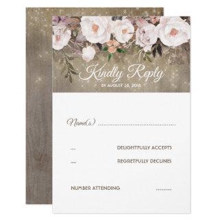 Blumen-rustikales Hochzeit UAWG Karte