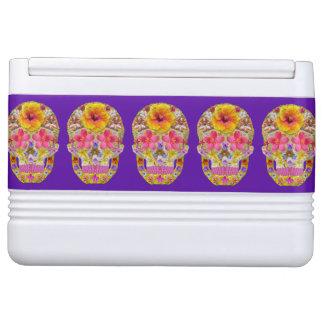 Blumen-Schädel 4 - tropisch Igloo Kühlbox