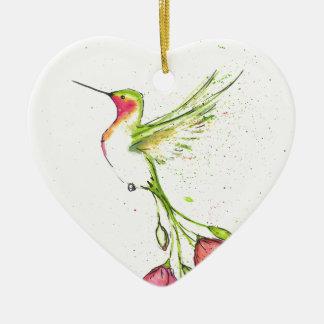 Blumen-Schwanzkolibri Keramik Ornament